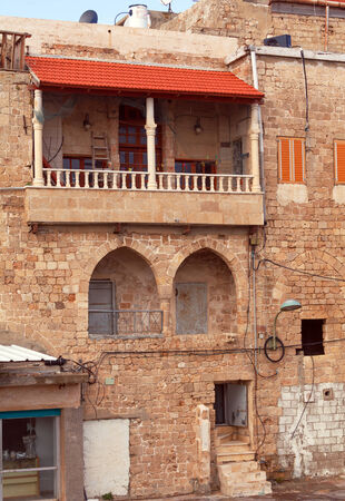 acre: Typical Building in Old City of Acre, Israel Editorial
