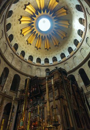 Jesus Tomb interior, Church of the Holy Sepulchre Heart, Jerusalem