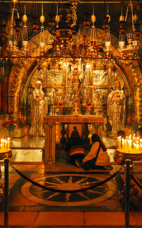sepulchre: Golgotha Mountain, Temple of the Holy Sepulcher in Jerusalem, Israel