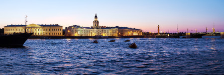 saint petersburg: Panorama of Kunstkamera and Neva, Saint Petersburg