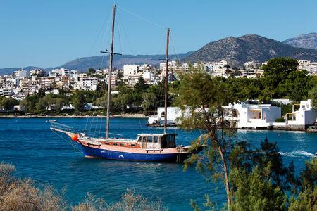 kreta: Agios Nikolaos City and Voulismeni Lake, Crete, Greece Stock Photo