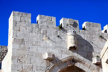Arabic Quarter Gate, Old City Wall, Jerusalem, Israel photo