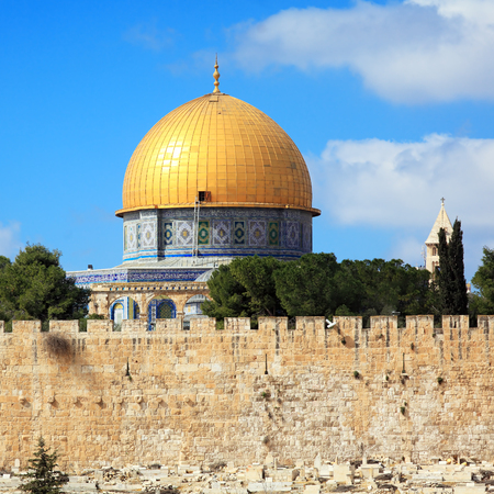 Al-Aqsa Mosque on Temple Mount of Old City, Jerusalem photo