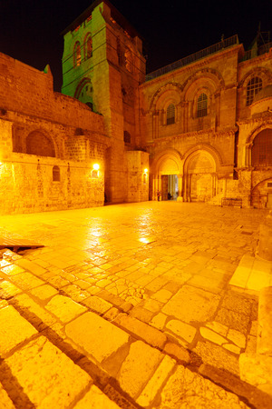 Holy Sepulchre Cathedral at Night, Jerusalem, Israel