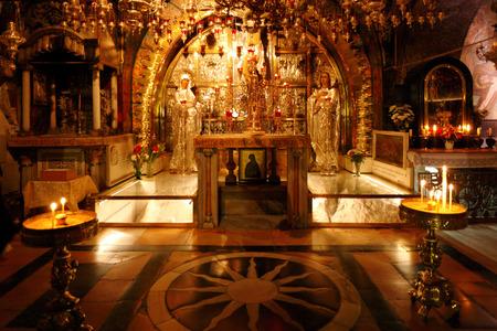 sepulcher: Golgotha Mountain, Temple of the Holy Sepulcher in Jerusalem, Israel
