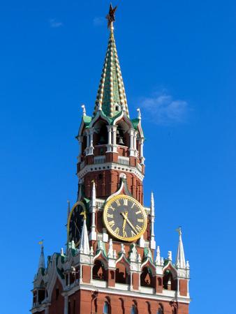 spasskaya: Spasskaya tower of Kremlin, Moscow, Russia
