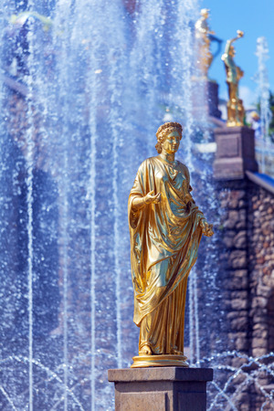 and st petersburg: Grand Cascade Fountains At Peterhof Palace, St. Petersburg