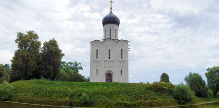 bogolyubovo: Wide Panorama Church of the Intercession on the Nerl in Bogolyubovo, Vladimir