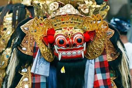 Barong dance mask of lion, Ubud, Bali, Indonesia
