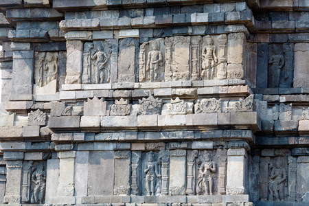 ancient architecture: Stone carving of Prambanan Hindu temple, Yogyakarta,  Java, Indonesia
