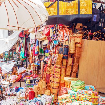 ubud: Souvenirs shop, Ubud, Bali, Indonesia Stock Photo