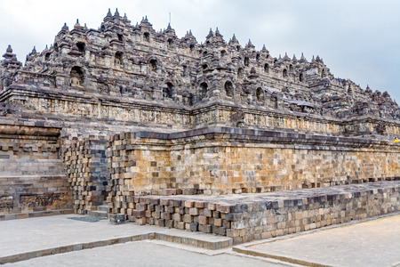 indonesia: Borobudur Buddhist temple with Stone Carving, Magelang,  Java, Indonesia Stock Photo