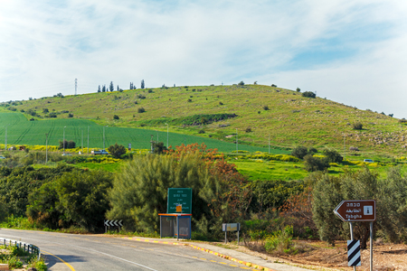 Landscape around Galilee Sea - Kinneret Lake Stock Photo
