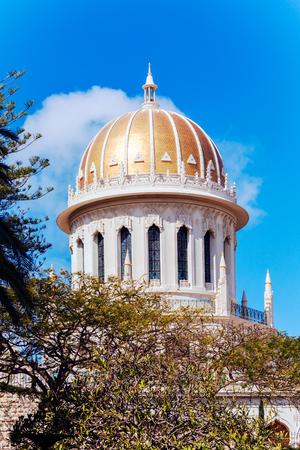 bahai: Bab Shrine in Bahai Garden, Haifa, Israel