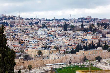 jewish home: Jerusalem Old City an Ancient Wall, Israel