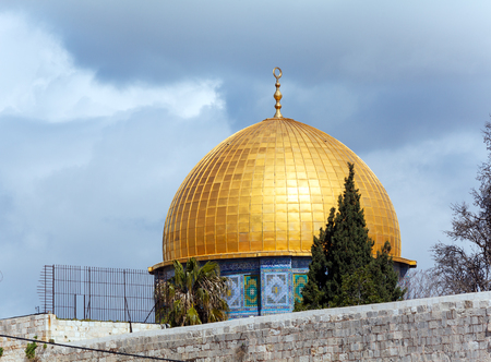 temple mount: Al-Aqsa Mosque on Temple Mount of Old City, Jerusalem
