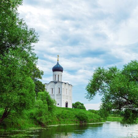 nerl: Church of the Intercession on the Nerl (1165), UNESCO heritage site, Russia
