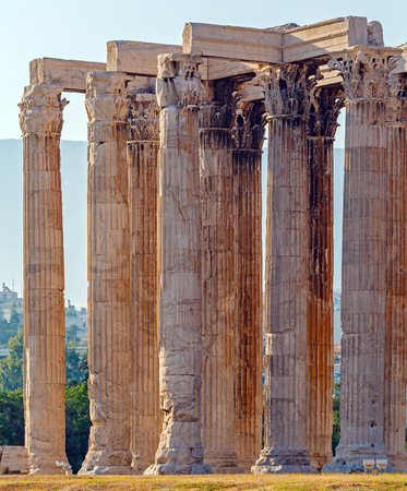 olympian: Olympieion, Temple of Olympian Zeus,  Athens, Greece Stock Photo