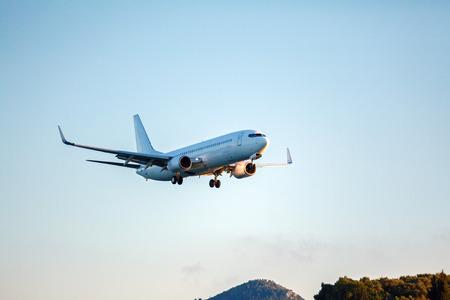 corfu: Landing of airplane, Corfu
