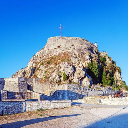kerkyra: Old Fortress in Kerkyra, Corfu island, Greece Editorial