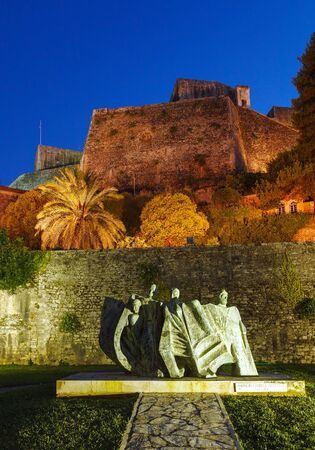 kerkyra: New Fortress at night, Kerkyra, Corfu island, Greece