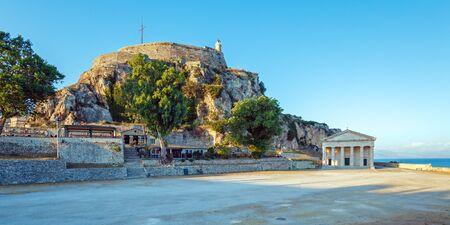 kerkyra: Old Fortress in Kerkyra, Corfu island, Greece Stock Photo