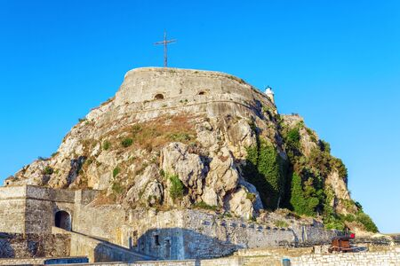 kerkyra: Old Fortress in Kerkyra, Corfu island, Greece Archivio Fotografico