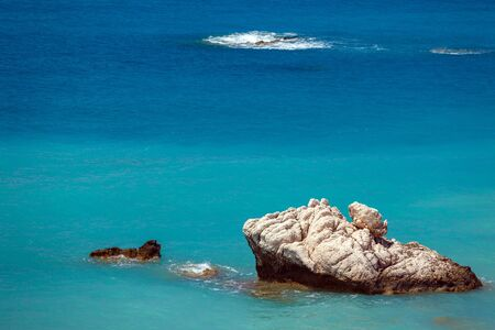 tou: Rocks of Aphrodite, bithplace of goddess of love, Paphos, Cyprus, also called Petra tou Romiou