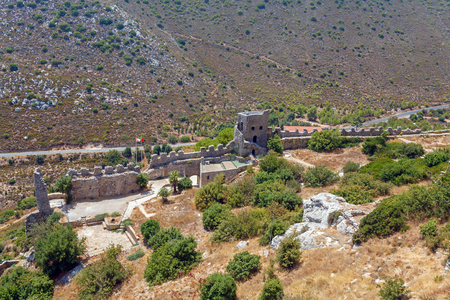 hilarion: Saint Hilarion Castle in Kyrenia mountain range, North Cyprus