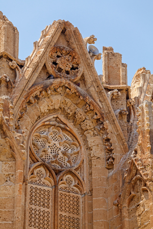 mustafa: Lala Mustafa Pasha Mosque (Saint Nicolas Cathedral) (1298-1400), Famagusta, North Cyprus Stock Photo