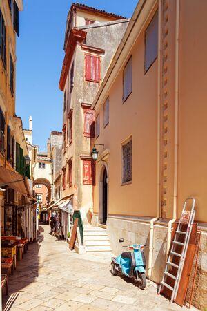kerkyra: Typical buildings in old city, Kerkyra, Corfu island, Greece