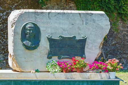 admiral: Russian Admiral Fedor Ushakov Monument, Founder of Seven Islands Republic, Corfu Stock Photo