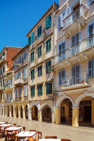 kerkyra: Typical buildings in old city, Kerkyra, Corfu island, Greece