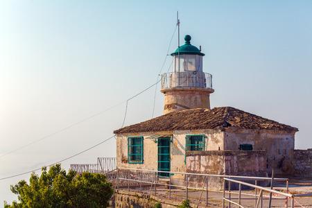 kerkyra: Lighthouse at Old Fortress in Kerkyra, Corfu island, Greece
