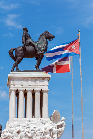 maximo: Statue of General Maximo Gomez in the center of old city, Havana, Cuba Stock Photo