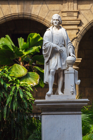 statue: Columbus Statue in Palacio De Los Capitanes, Havana, Cuba