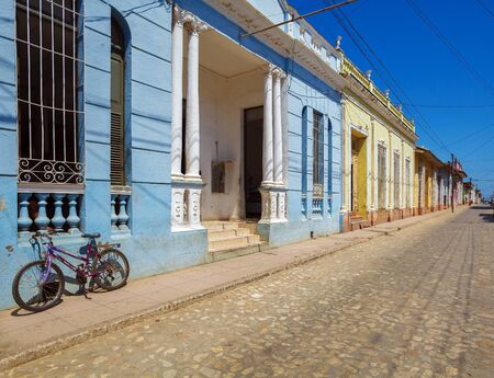 old town: Houses in the old town, Trinidad, Cuba Stock Photo
