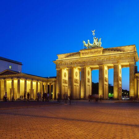 brandenburg gate: Brandenburg Gate at Pariser Platz, Berlin, Germany Stock Photo