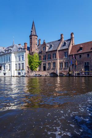bruges: Rosenhoedkaai from boat, Bruges, Belgium