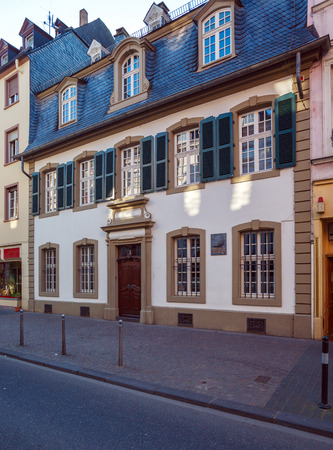 marx: House, where Karl Marx was born, Trier, Germany Editorial