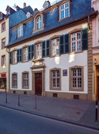 marx: House, where Karl Marx was born, Trier, Germany Editorial