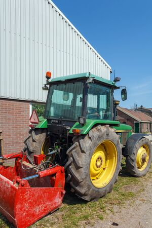 traction engine: Modern Tractor at Traditional Holland Farm