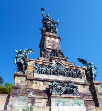 Reich: Niederwald Denkmal,   monument of Second Reich, Ruedesheim on Rhein, Hesse, Germany
