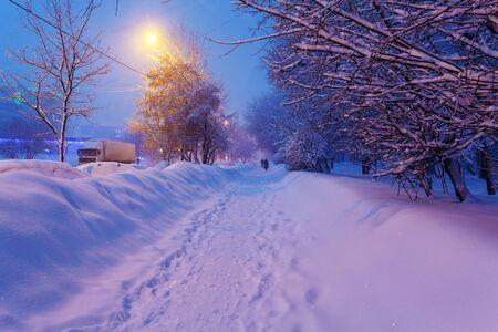 illuminated: Illuminated Night Winter City Scene