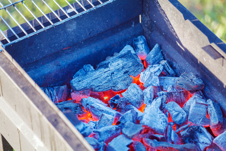 coals: Barbecue Charcoals with Red Glow