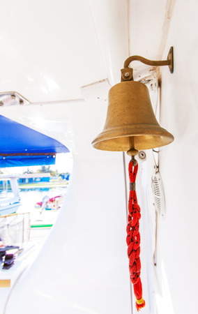 bell bronze bell: Bronze Traditional Yacht Bell with Rope