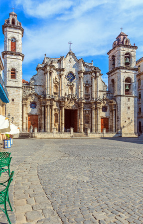 havana cuba: Cathedral of The Virgin Mary of the Immaculate Conception, Havana, Cuba Stock Photo