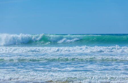 ocean and sea: Atlantic ocean waves near Biarritz, France