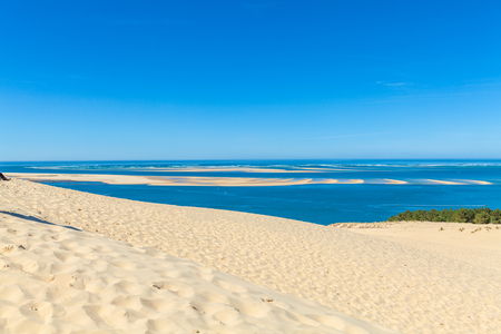 View from the highest dune in Europe - Dune of Pyla (Pilat), Arcachon Bay, Aquitaine, France