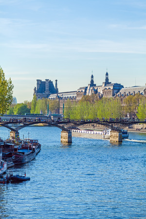 Pont des Arts, pedestrian bridge in Paris which crosses the River Seine